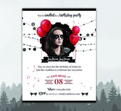 The 100 Lexa Birthday Flyer Invite  The 100 by TwingenuityGraphics #the100 #lexa #heda