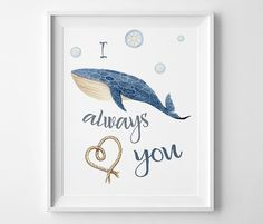 Wall Art PrintableI whale always love you  by ThePrintablePlanners