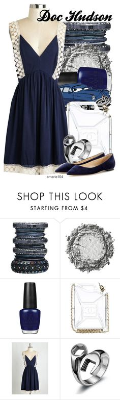 """""""Doc Hudson"""" by amarie104 ❤ liked on Polyvore featuring River Island, OPI, Disney, Chanel and Jimmy Choo"""
