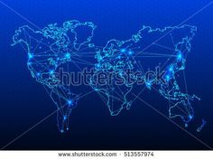 maps of the Earth's. world map. Vector illustration