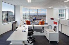 Stylish Office Space Orange Sofa Adobe Global Headquarter