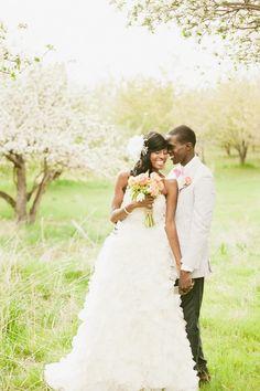 Bright Orchard Utah Wedding Inspiration Shoot via Trendy Bride. Photography by David Kirk, http://www.davidnewkirk.com/  #vintage #wedding