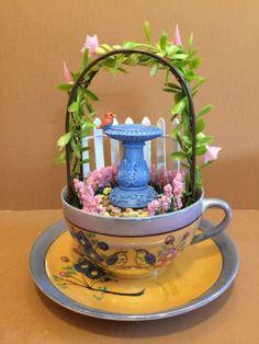 Stunning DIY Tea Cup Fairy Garden Ideas 31