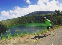 Lake Tolire at the foot of Mount Gamalama, North Maluku Province, Indonesia. Beautiful volcane lake, about 5 hectares wide, but the deep unknown. #VisitTernate #wonderfulindonesia #laketolire #levitasi #levitate #flyingtraveler