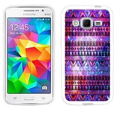 Casemas (TM) Nebula Aztec Tribal Flexible Slim TPU Phone Case Cover for Samsung Galaxy Core Prime G360 / Prevail LTE Casemas