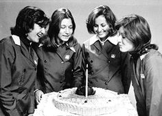 A group of Woolworth assistants, pictured in 1969. They were paid £6 for a forty hour week, about 15p per hour. Many joined at 15, which was the school leaving age. They, like Saturday staff were paid a juniors rate of 7p per hour. Saturday Staff, who were normally still at school, and could be as young as 13. Many obtained permission to work an extra hour or two in the afternoons during the week after school, and during the holidays. It was illegal to trade on a Sunday.