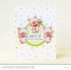Handmade card from Torico featuring Birdie Brown Hog Heaven stamp set and Die-namics #mftstamps