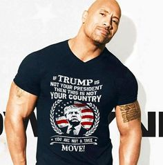 Photoshopped. It's not the first time I've seen someone shop his shirt to make it look like he supports Trump. A check on his Twitter last time I saw a fake shirt on him showed he supported Bernie, I think (might've been Hillary, but definitely wasn't Trump).