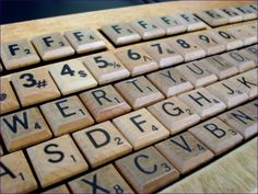 Scrabble tiles made this insanely cool wooden keyboard