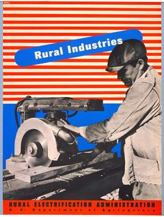 "Lester Beall ""Rural Industries"" Lithograph and Screenprint  1937-1941"
