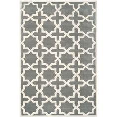 Varick Gallery Wilkin Dark Grey / Ivory Rug Rug Size: 10' x 14'