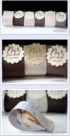 Cute packaging idea for party or wedding favors. Cookie Packaging, Soap Packaging, Packaging Ideas, Simple Packaging, Wedding Favours, Party Favors, Wedding Gifts, Wedding Ideas, Diy Box