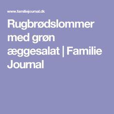 Rugbrødslommer med grøn æggesalat   Familie Journal