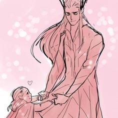 Dancing with Ada - little Legolas and Thranduil