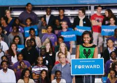 """""""I met some exceptional college students in North Carolina. You all are our future and we're going to keep fighting for you.""""–The First Lady on her stops in Durham and Greenville, NC yesterday Presidente Obama, Lets Move, Mr President, Greatest Presidents, Young Americans, Keep Fighting, Great Memories, Michelle Obama, Barack Obama"""