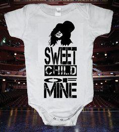 Sweet Child of Mine Onsie One Piece Body Suit funny baby shirt Funny Baby Shirts, Funny Babies, Sweet Child O' Mine, One Piece Bodysuit, Baby On The Way, Cool Baby Stuff, Kid Stuff, Baby Girl Fashion, Baby Kids