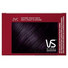 Vidal Sassoon Pro Series Permanent Hair Color Oxford Violet Onyx 1 kit - All For Hair Color Trending Vidal Sassoon Hair Color, How To Dye Hair At Home, Fade Out, Permanent Hair Color, Dyed Hair, Kit, Serum, Oxford, Hair Styles