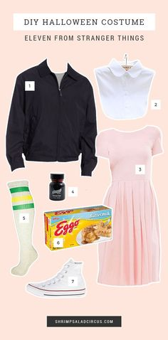 DIY Stranger Things Halloween Costume Ideas - Dress up as Eleven from #StrangerThings for this year's Halloween party costumes!