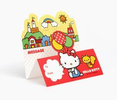 Hello Kitty Standing Memo Pad: Village