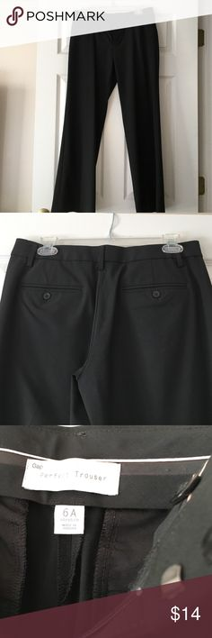 Black stretch dress pant Gap Perfect Trouser/stretch/dressy. Not skinny pant. Size 6A. Wore once to yearly conference then gained weight :( GAP Pants Trousers