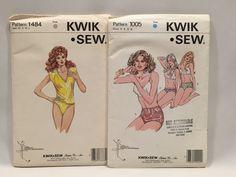 Vintage Kwik Sew Patterns Lingerie 1005 1484 by RightBrainBoutique