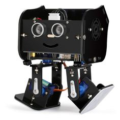 A description of ELEGOO Arduino Project,Penguin Bot Arduino Biped Robot Kit with Assembling Tutorial,STEM Kit for Hobbyists, STEM Toys for Kids and Adults, a kit to experiment with robotics and Arduino programming. Box Robot, Robot Kits, Arduino Programming, Linux, Robots For Kids, Kids Toys, Arduino Controller, Robot Mask, Simple Arduino Projects