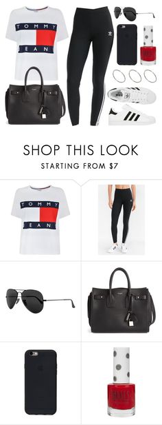 """""""Sin título #12640"""" by vany-alvarado ❤ liked on Polyvore featuring Tommy Hilfiger, adidas, Ray-Ban, Yves Saint Laurent, Topshop and ASOS"""