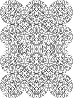 Mandalas are complex kaleidoscope designs that are a joy to fill with color. These are over 20 of the best mandala coloring books for adults. Blank Coloring Pages, Pattern Coloring Pages, Mandala Coloring Pages, Coloring Sheets, Coloring Books, Zen Doodle Patterns, Doodle Borders, Mandala Artwork, Mandala Design