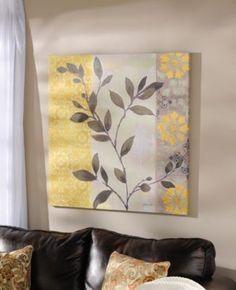 Aspen Leaves Canvas Art Print | Kirkland's - Master bedroom