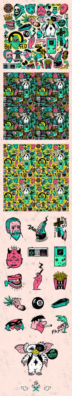 1 month of daily drawing after work, more bizarre, crazy and colourful things blowing out of my dirty brain. hope u enjoy this new MADNESS.