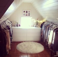 Attic as a walk-in closet