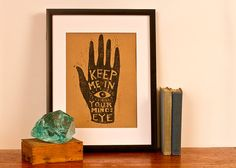 Keep Me In Your Mind's Eye - Kraft Paper - General Industry on Etsy