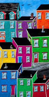 Check Out These Arts And Crafts Tips Pike Art, Outdoor Wedding Backdrops, Kunst Portfolio, Newfoundland And Labrador, Jelly Beans, Acrylic Art, Painted Rocks, Painted Houses, House Painting