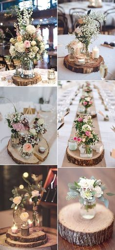 wedding table decorations 640637115723032621 - rustic wedding centerpieces with. - wedding table decorations 640637115723032621 – rustic wedding centerpieces with tree stumps Sour - Barn Wedding Decorations, Rustic Wedding Centerpieces, Centerpiece Ideas, Party Centerpieces, Centerpiece Flowers, Wedding Rustic, Rustic Wedding Table Decorations, Wedding Lanterns, Chic Wedding