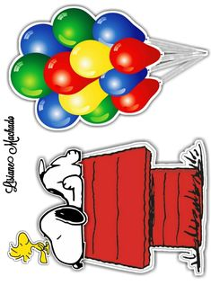 Snoopy Party, Charlie Brown And Snoopy, Crafts To Make, Cake Toppers, Clip Art, Stickers, How To Make, Cartoons, Kids