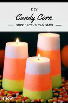 Halloween just isn't Halloween without candy corn! Even though the taste isn't for everyone, your friends and family will love these decorative candles!