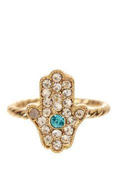 Micro Hamsa Ring by Boho & Bourbon on Cute Jewelry, Jewelry Box, Jewelery, Jewelry Accessories, Bohemia Jewelry, Hamsa Necklace, Hand Of Fatima, Hamsa Hand, Hippie Chic
