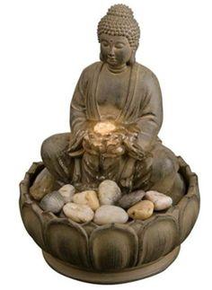 Buddha Illuminated Tabletop Fountain