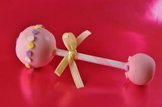 cake ball rattles using straws! adorable