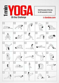 Yoga Challenge by DAREBEE Amazing Website, would be great to compile a workout folder to pull from & write on the board in the gym Fitness Workouts, Fitness Herausforderungen, At Home Workouts, Planet Fitness, Health Fitness, Weekly Gym Workouts, Darbee Workout, Circuit Fitness, Elite Fitness
