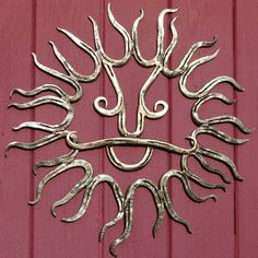 Cowboy Sun by SaltCreekCrafts on Etsy, $300.00 - My brother makes these from recycled horseshoes!