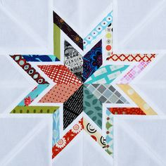 Star quilt perfectly matched centers