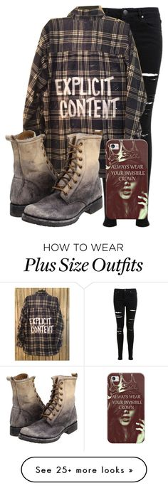 """""""Explicit Content"""" by brooky338 on Polyvore featuring Miss Selfridge, Frye and Casetify"""
