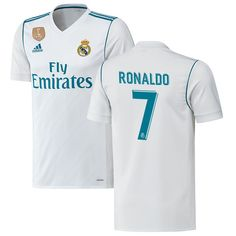 Ronaldo Real Madrid adidas 2017/18 Home Authentic Patch Jersey - White