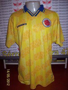 a lendária camiseta do Valderrama, utilizada entre 94 e 96.