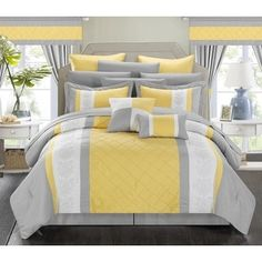 chic home falconia hotel collection 10piece bed in a bag with sheet set shopping the best deals on bedinabag pinterest