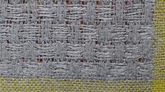 Panama variation with plain weave border   linen
