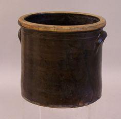 Ceramic Crocks   Early Connecticut stoneware brown drip glaze crock c1800 : Item # 5597 ...