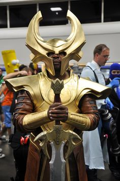"If I saw this guy at a Comic Con, I'd want to be wearing my Loki dress, and I'd yell ""Heimdall! Open the Bifrost!"" feeling reeeeally epic. :D"