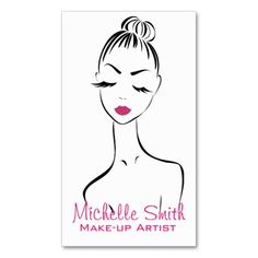 Woman face Make-up artist business card design